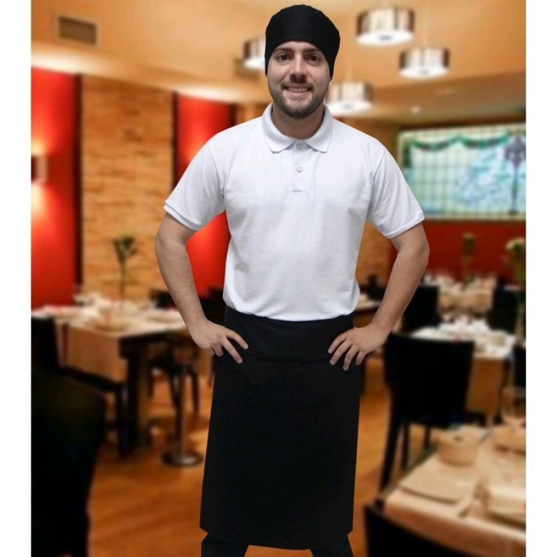 Aventais Cozinheiros Pretos Cotia - Avental e Chapéu Cozinheiro