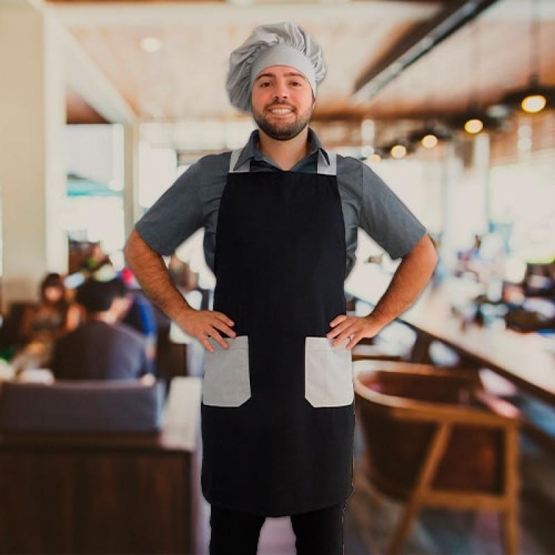 Aventais e Chapéu Chefs Cananéia - Avental para Chefs de Cozinha