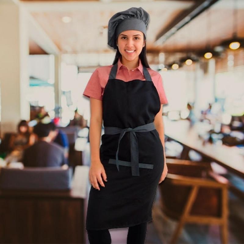 Avental e Chapéu Chef Orçar Capão Redondo - Avental para Chefs de Cozinha