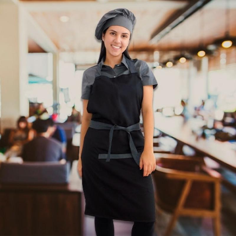 Avental e Chapéu Chef Vila Anastácio - Avental para Chefs de Cozinha