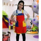 aventais coloridos de festa infantis Vila Anastácio