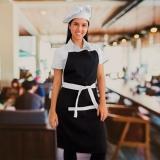avental chef de cozinha feminino Jandira