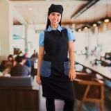 avental chef feminino orçar Pompéia