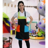 avental colorido infantil