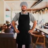avental cozinheiro preto Louveira