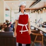 avental chef feminino