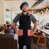 avental chef masculino