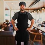avental cozinheiro preto
