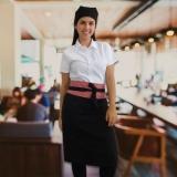 avental personalizado feminino com bolso Marília
