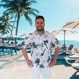 camisa para garçom de praia preços Bairro do Limão