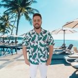 camisa para garçom de praia Jaçanã