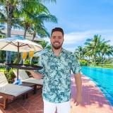 camisas para garçom de piscina Riviera de São Lourenço