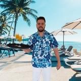 preços de camisa para garçom de praia Alto de Pinheiros