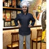 uniforme chef cozinha feminino valores Santa Isabel