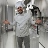 uniforme cozinheiro branco Chácara do Piqueri