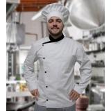 uniforme de cozinheiro chefe valores Parque Dom Pedro