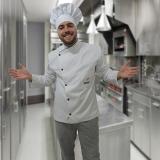 uniforme de cozinheiro chefe Jockey Clube