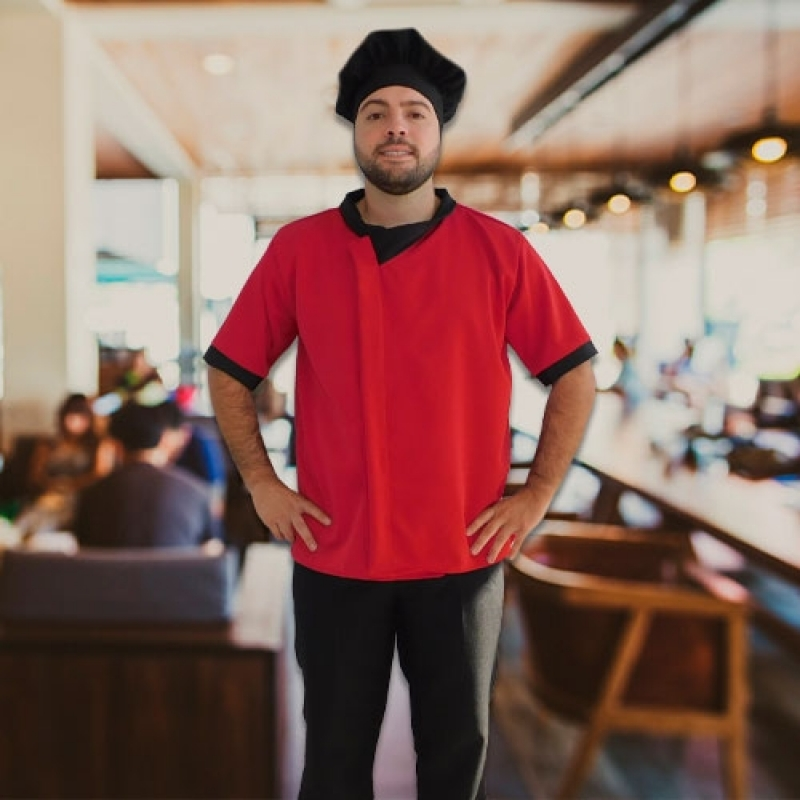 Uniforme de Garçonete Raposo Tavares - Uniforme para Garçonete de Restaurante