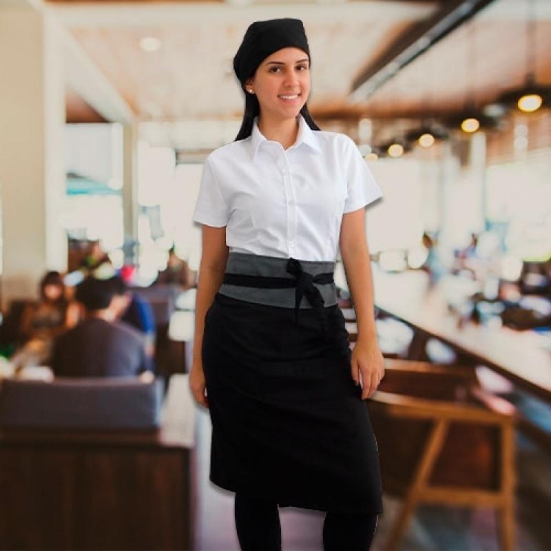 Uniforme para Garçonete de Restaurante Cotação Jockey Club - Uniforme para Garçonete de Buffet