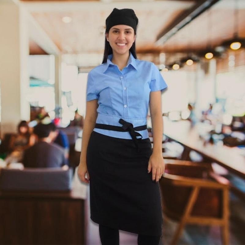 Uniforme para Garçonete de Restaurante Pedreira - Uniforme Garçonete Restaurante